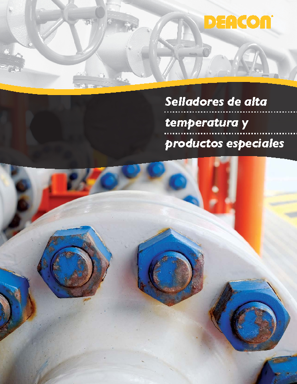 Selladores de alta temperatura y productos especiales