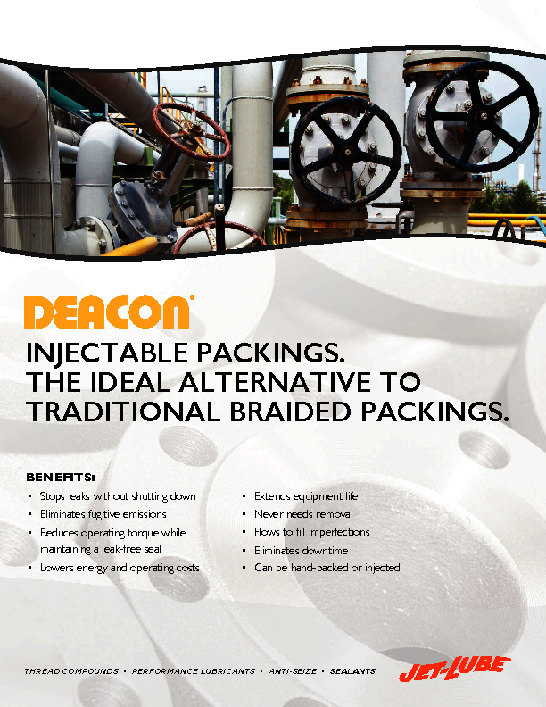 Injectable Packings - The Ideal Alternative to Traditional Braided Packings