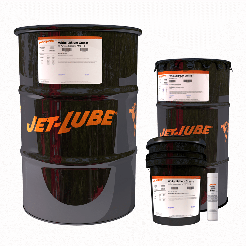 White Lithium Grease All-Purpose Grease w/ PTFE - H2 | Jet-Lube